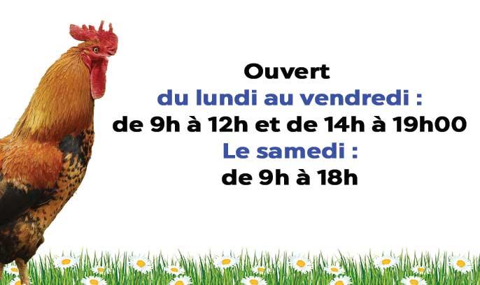 Découvrez les horaires d'ouverture de la jardinerie animalerie des 2 vallées à Cernay
